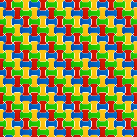 Floor tiles composition in red, blue, orange and green  Vector