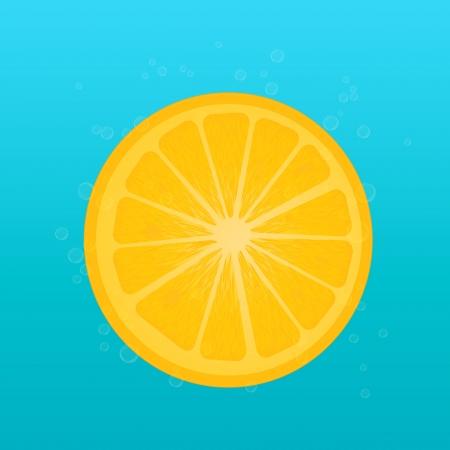 Lemon and bubbles Vector