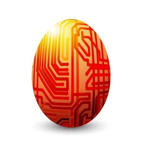 fiestas electronicas: Huevo conectado Vectores