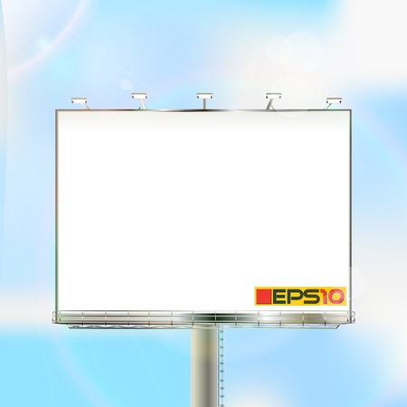 Huge outdoor billboard over a clear sky, mesh gradient and transparency effect used Stock Vector - 16188080