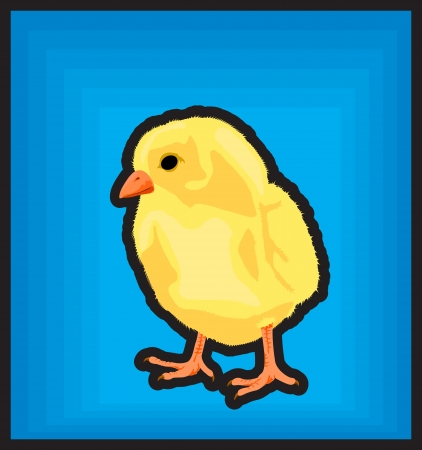 fledgeling: New born chiken icon clip art illustration