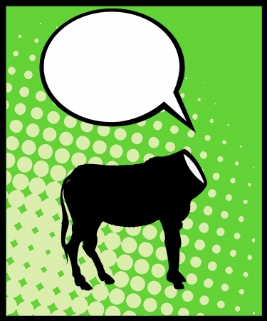 Conceptual comic style caricature of a headless donkey silhouette and speech bubble Vector