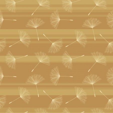 Background illustration with dandelion seed in pastel tones  Seamless background  Vector