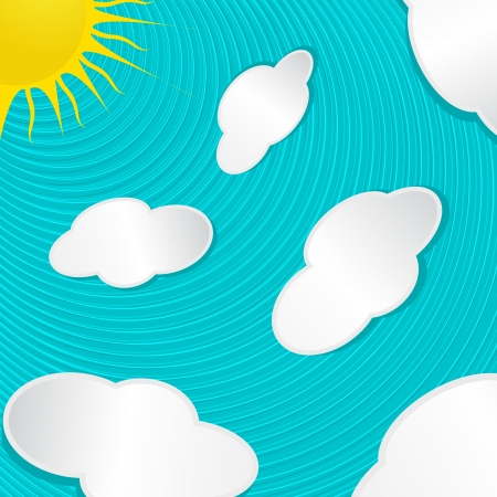 Illustration of a sunny sky with clouds background Stock Vector - 16530238