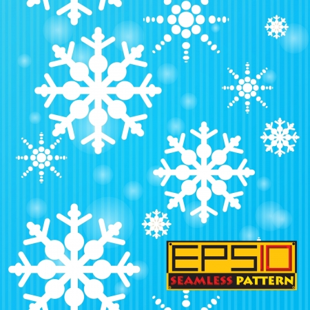 Seamless snow background Stock Vector - 16682206