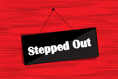 Stepped Out message board grunge sketch Stock Vector - 16682207