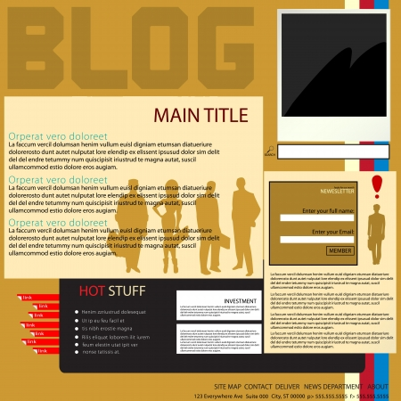 Blog page design layout, graphic art. Stock Vector - 16796461