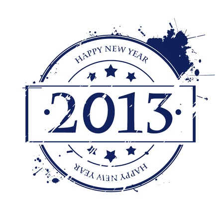 Rubber stamp for 2013, isolated and grouped object on white Stock Vector - 16900638