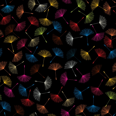 Dandelions flying seed pattern in colors Stock Photo - 16900646