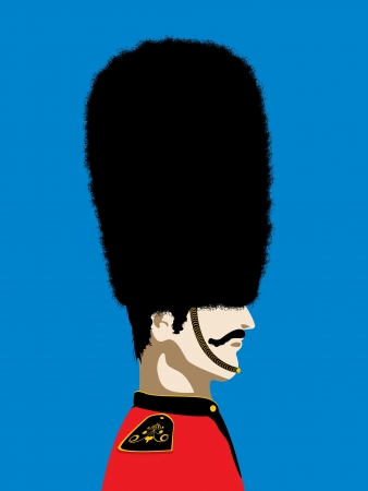Grand mustache England Royal guard Vector