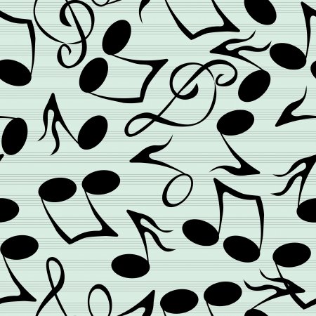 sheet music: Seamless pattern with stylized musical notes