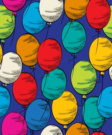 Seamless party background with colored balloons Stock Vector - 17124199