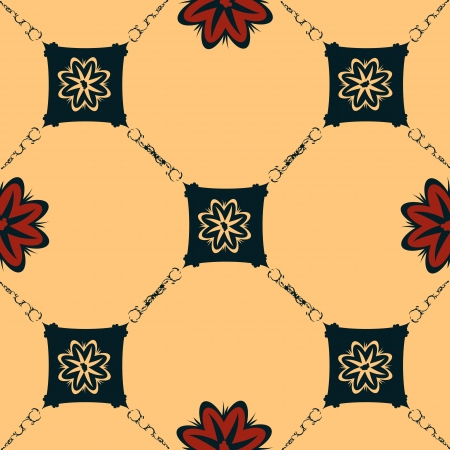 jugendstil: Art nouveau style background, seamless pattern Illustration