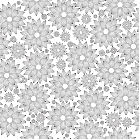 Seamless floral background, vinyl ready. Stock Vector - 17230678