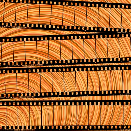 Conceptual movie background with film reel cuts, abstract art Stock Vector - 17288233