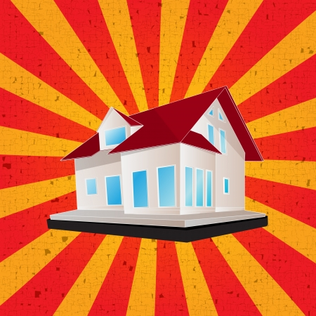 Retro style illustration of a house Stock Vector - 17288235