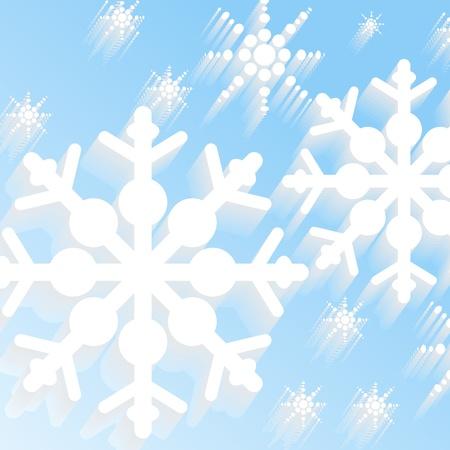 Winter snow background, abstract art illustration Stock Vector - 17288232