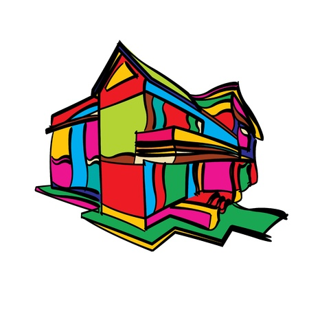 Stylized house conceptual sketch Stock Vector - 17356945