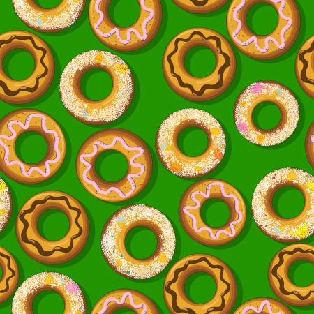 Seamless pattern with fresh donuts. Graphic arts. Stock Vector - 17356953