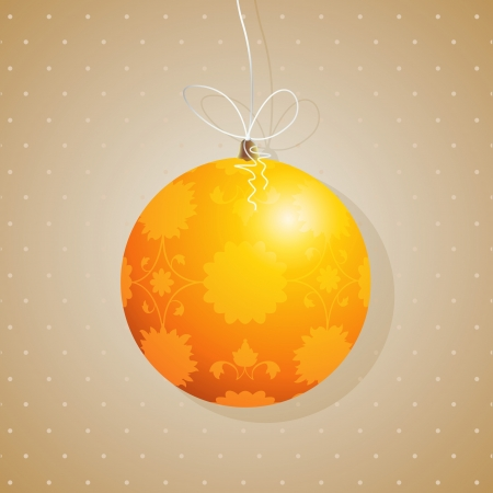 Beautiful Christmas tree decoration card. Stock Vector - 17356944