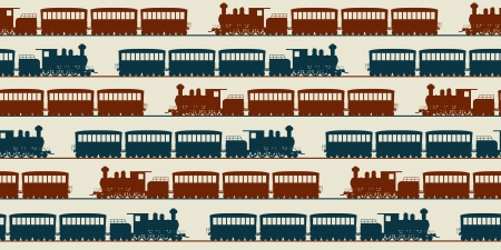 Train seamless pattern, graphic arts Stock Vector - 17503052