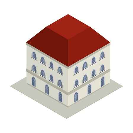 Isometric drawing of a Victorian style house Stock Vector - 17503047