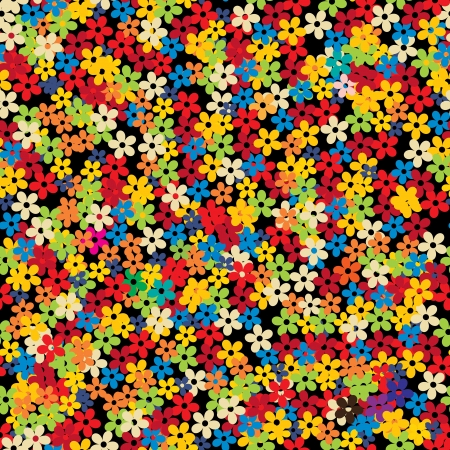 texture fantasy: Seamless floral background, retro style design