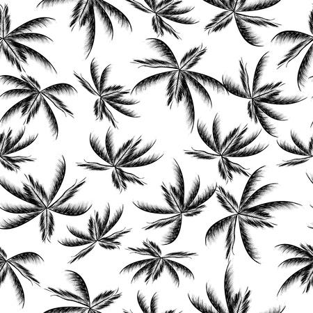 tropical plant: Palm tree leaf seamless pattern