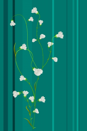 Spring flower print, decorative background Stock Vector - 17994809