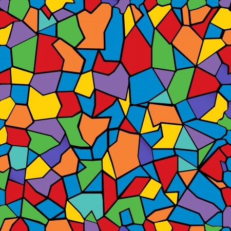 indigo: Colored mosaic background. Illustration
