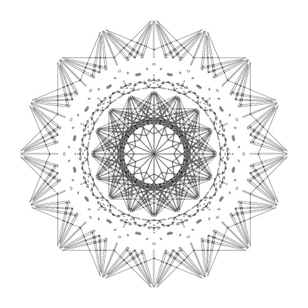 Star shape tile design, abstract art