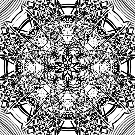 Star shape tile design, isolated object on white background
