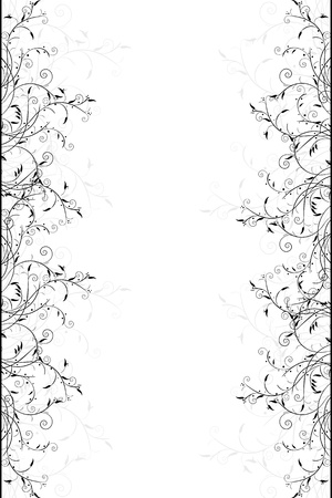 art nouveau design: Elegant scroll design, isolated and grouped objects on white background