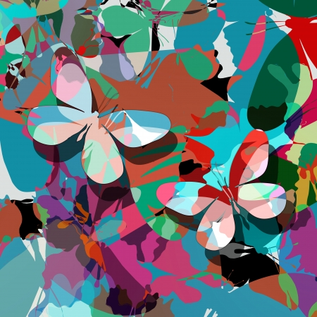 art abstract: Butterfly abstract design