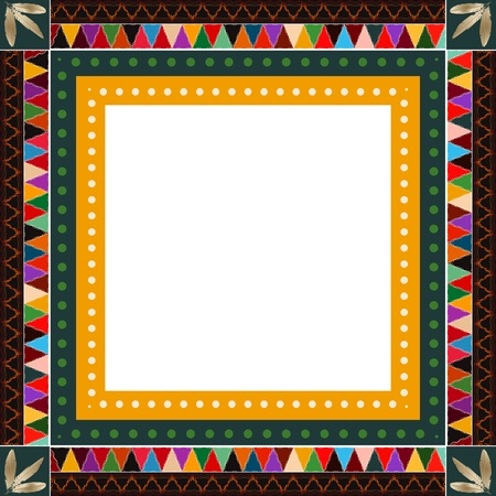 Native American Indian motif border design