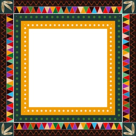 Native American Indian Motiv Grenze Design Standard-Bild - 19832278