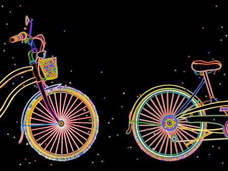 bicycle frame: Bicycle retro stylish design illustration