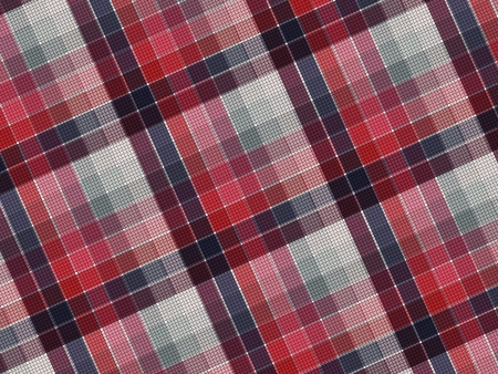 Plaid fabric texture, abstract background Vector