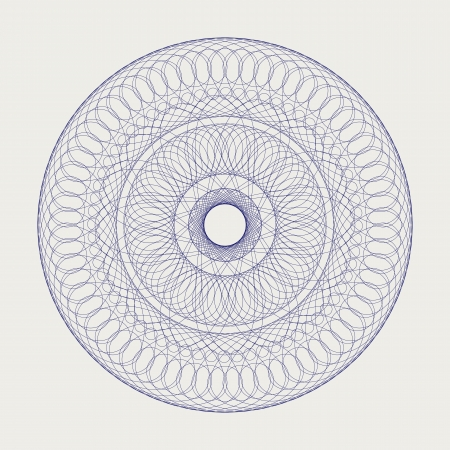 laced: Decorative round lace ornament over white Illustration