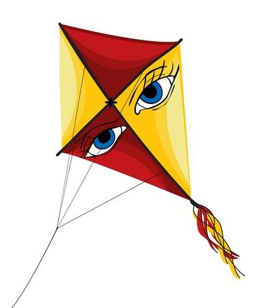 Illustration of isolated kite on white background Vector