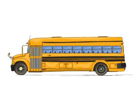 School bus cartoon against white background Stock Vector - 21444770