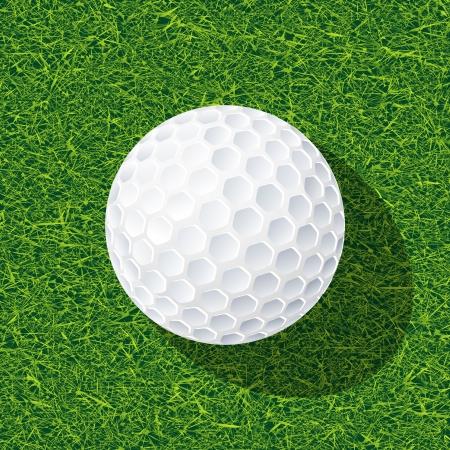 minigolf: Realistic golf ball on the grass