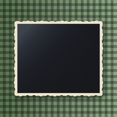 Instant photo frame with copy space, gaussian blur effect Vector