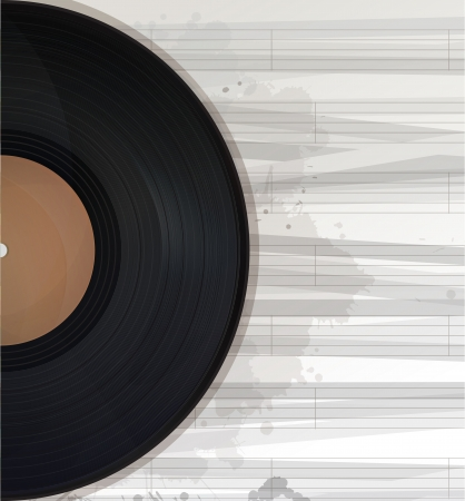 Music record background, text card with copy space Vector