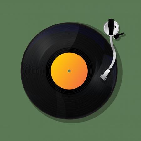 Turntable Hintergrund, Musik-Ikone Design Standard-Bild - 21775456