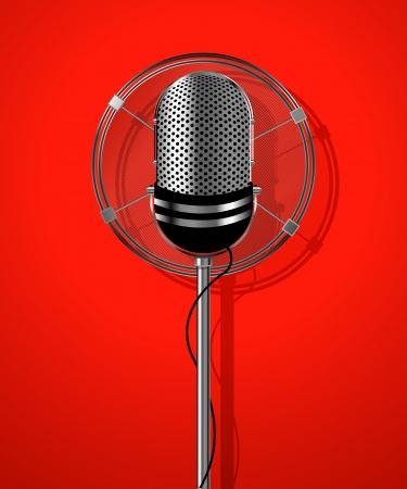 microfono radio: Micr�fono de la radio Classic, tarjeta karakoke