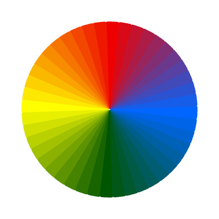 Color swatch, wheel.  Isolated object on white background Vector