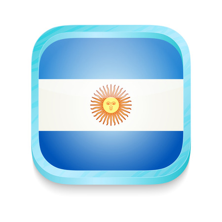 Smart phone button with Argentina flag Vector