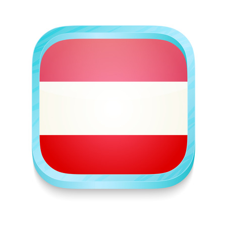 Smart phone button with Austria flag Stock Vector - 22198104