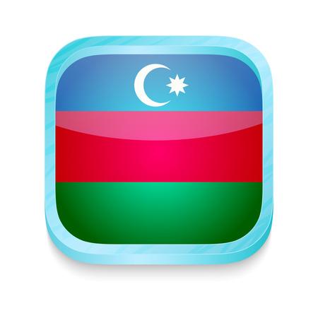 Smart phone button with Azerbaijan flag Vector